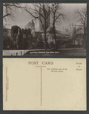 1910s CANTERBURY CATHEDRAL FROM GREEN COURT ENGAND UK RPPC REAL PICTURE POSTCARD