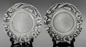 OLD ART NOUVEAU STERLING SILVER 925 MINIATURE TRINKET RING HOLDER DISH PLATE