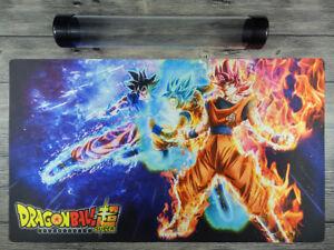 Dragon Ball Super Goku Custom Playmat YuGiOh/MTG TCG Mat Free High Quality Tube