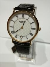 Orologio Uomo Donna Vintage Raymond Weil Pelle  Gold 2912430  Swiss Made