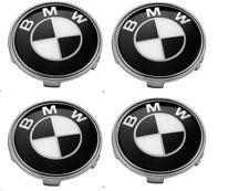 4  BMW Tappi Coprimozzo 68mm 1 2 3 4 5 6 7 Serie Z X Borchie cerchi bianco nero
