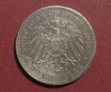 1913G BADEN, GERMAN STATES 5 MARK - LOWER MINTAGE, HARSHLY POLISHED, PLEASE VIEW