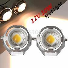 2pcs 12V 10W White LED Work Light Spot Road Motor Car Tractor Boat Fog Spotlight