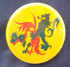 Pin Button Badge Ø38mm  Carnaval de dunkerque la Flandre / la Wallonie
