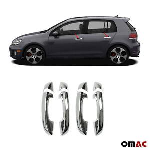 For Volkswagen Golf Mk6 2010-2014 Chrome Door Handle Cover Trim S. Steel 8 Pcs