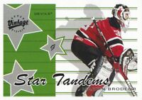 2000-01 Upper Deck Vintage Hockey Star Tandems #S4B Martin Brodeur NJ Devils