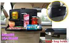 Car Auto Seat Back Tray Cup Holder Organizer Drink Food Desk Stand Foldable New