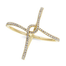 Pave Diamond Right Hand Cocktail Ring 14K Yellow Rose White Gold Wide
