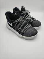 Nike Zoom KD10 GS Size 4.5Y Oreo/Black White/Grey Kevin Durant Basketball Shoes