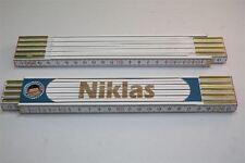 Zollstock mit  NAMEN      NIKLAS     Lasergravur 2 Meter Handwerkerqualität