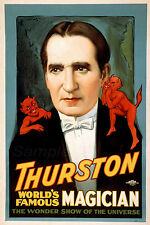 TM02 VINTAGE THURSTON MAGICIAN MAGIC A4 POSTER PRINT