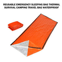 Reusable Waterproof Emergency Sleeping Bag Thermal For Survival Camping Hiking
