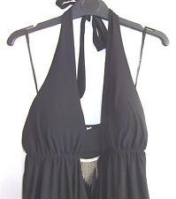 BNWOT - LADIES LOVELY BLACK HALTERNECK PARTY DRESS - SIZE 10-12 (S / M)