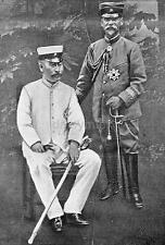 "Japanese Army Generals Terauchi & Kodama 1904 Japan Russo War 7x5"" Reprint Photo"