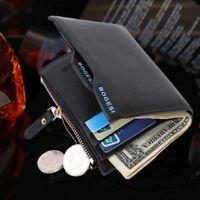 Coin Case Leather Credit Card Holder Money Pocket Slim Male Purse Men's Wallet