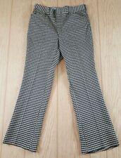 Kings Road Sears Vintage 1970s Beige Blue Knit Polyester Pants 34 Medium
