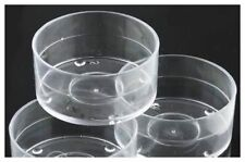 100 x Clear Polycarbonate Tealight Cups. . . 18mm Stackable. . . (38mm x 18mm)