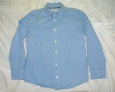 77 kids Boys Blue chambray long sleeve uniform / dress shirt size M
