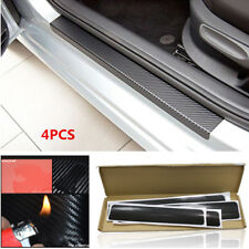 4PCS 3D Anti-kick Scratch Car SUV Door Plate Door Sill Scuff Plate Cars Stickers