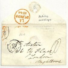 SS108 1844 Paris France to GB/Petite envelope {samwells-covers}