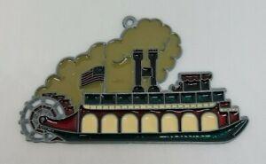 Steamboat Riverboat Sun Catcher Multi Color Handmade? Plastic Metal Unbranded