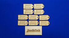 Adorno De Navidad De Etiquetas artesanías de madera MDF forma de corte láser Navidad elaboración de tarjetas
