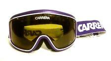 Carrera Snowboard Skiing Goggles Purple White Black Tinted Lens Adjustable Band