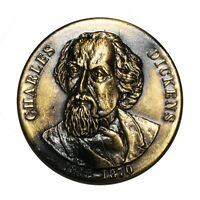 Uniface Commemorative Medallion - Life of Charles Dickens 1812-1870