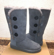 UGG BAILEY BUTTON TRIPLET TALL GRAY GREY BOOTS US 9 / EU 40 / UK 7.5