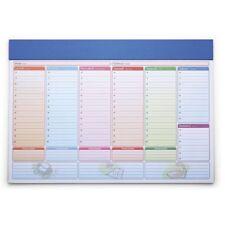 Planning settimanale da tavolo senza date, agenda, calendario 2018