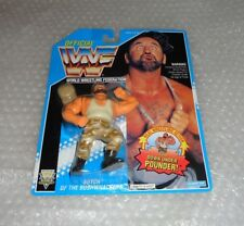 Vintage Hasbro WWF Butch Bushwacker Action Figure - MOC - Series 10