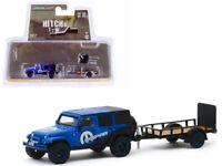 """2012 Jeep Wrangler Unlimited w/ Trailer """"MOPAR"""" 1:64 Model - Greenlight 32190B*"""