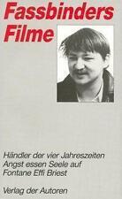 Fassbinders Filme 3 von Rainer W. Fassbinder (1990, Taschenbuch)