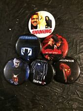 "1.25"" Horror Movies pin back button set of 6"