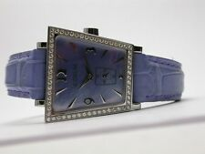 CORUM TRAPEZE STAINLESS STEEL LADIES WATCH LAVENDER TONES 105.404.20 QUARTZ