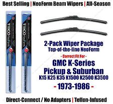 2-Pack NeoForm Wipers 1973-1986 GMC K15 K25 K1500 K2500 Pickup Suburban 16160x2