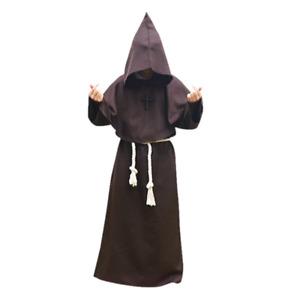 Clergy Cloak Friar Medieval Cape Wizard Priest Unisex Halloween CosplayProps Cos