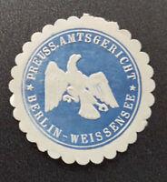 Siegelmarke Vignette Preuss. Amtsgericht Berlin-Weissensee (7698-5)