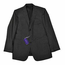 Ralph Lauren Purple Label Drake Custom Fit 3 Piece Gray Wool Suit 46 L New $5495