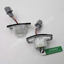 2x Error Free Led License Number Plate lamp light For Honda JAZZ/Fit CR-V Stream