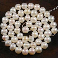 8-9mm White Freshwater Cultured Pearl Loose Bead 14""
