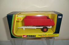 CORGI TOYS MODEL No.56 FARM TIPPER TRAILER  ( WHITE CHASSIS)  MIB