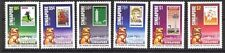 Singapore stamps - 1984 25 Years Nation Building stamp in stamp 6v set MNH Lion