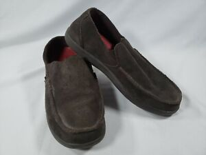 Crocs Men's Santa Cruz Convertible Leather Slip-On, Espresso/Espresso, Size 10.0