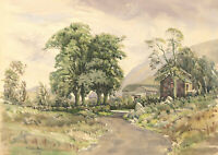 Neil Taylor - Signed 1961 Watercolour, Musslow Farm, Mosdale