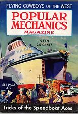 1936 Popular Mechanics September-Man o' War;Mt Palomar;Cheating motorcycle death