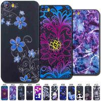 Varnish Embossed TPU Gel Slim Soft Case Cover Skin For iPhone Xs Plus SE 5 6 7 8