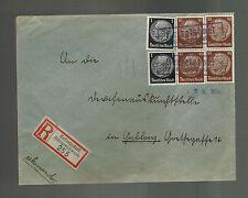 1938 Ketzelsdorf Germany Sudetenland Provisional Cover to Yurblong