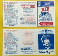 1978 1979 Kansas City Royals UNFOLDED Vintage Baseball pocket schedule lot card