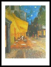 Vincent van Gogh Nachtcafe Poster Bild Kunstdruck im Alu Rahmen schwarz 80x60cm